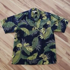 Tommy Bahama Hawaiian Aloha Shirt (100% Silk)